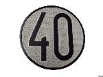 Señal de 40 km/h